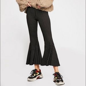 Free People Cropped pinstripe pants